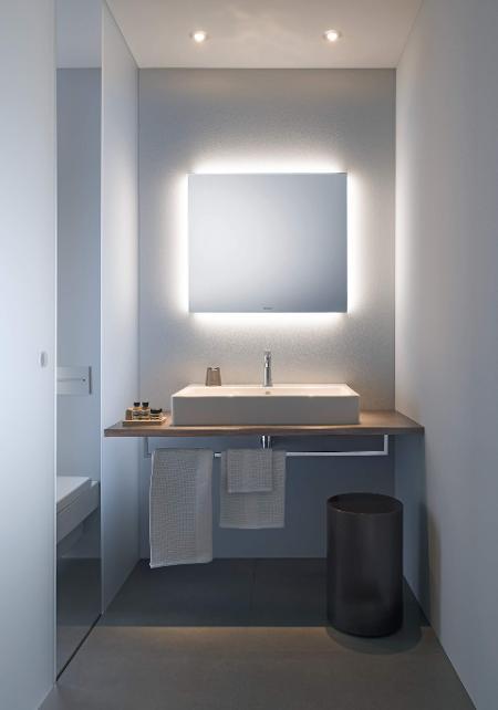 Espelho Lapidado Com Bisotê com LED - 30x50cm