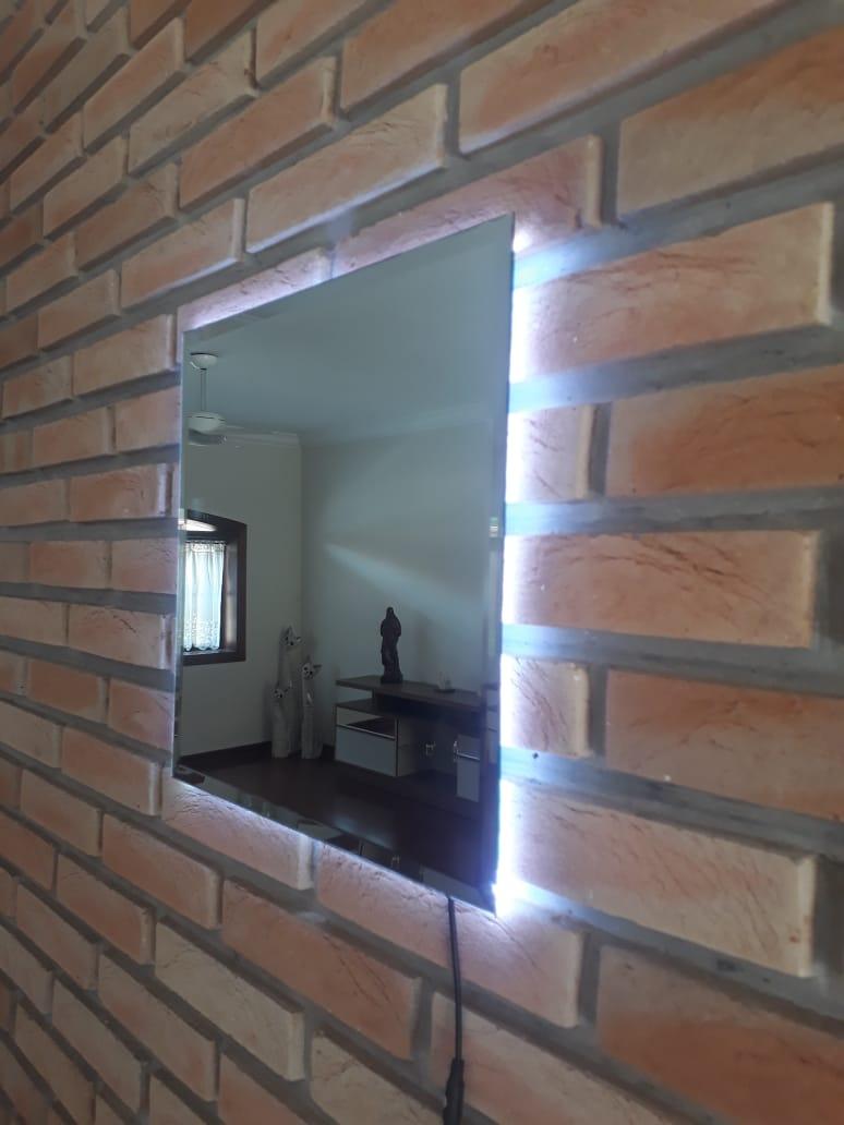 Espelho Lapidado Com Bisotê com LED - 30x60cm