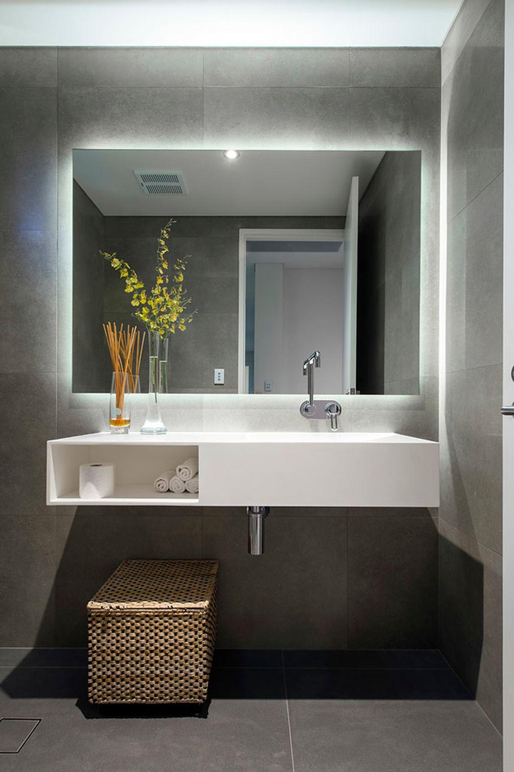 Espelho Lapidado Com Bisotê com LED - 50x50cm