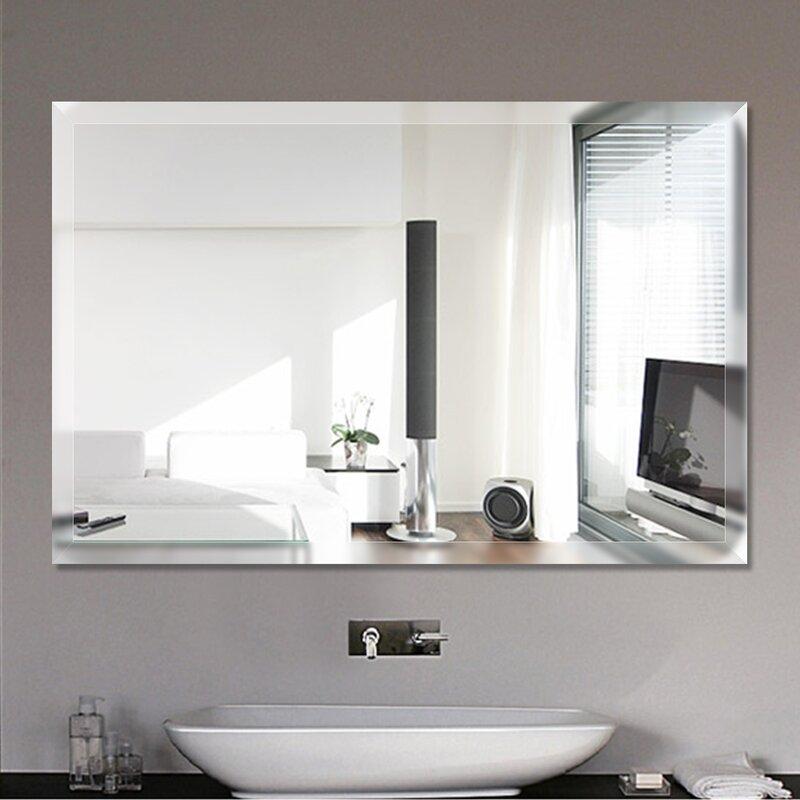 Espelho Lapidado Com Bisotê fixado com botões - 30x60cm