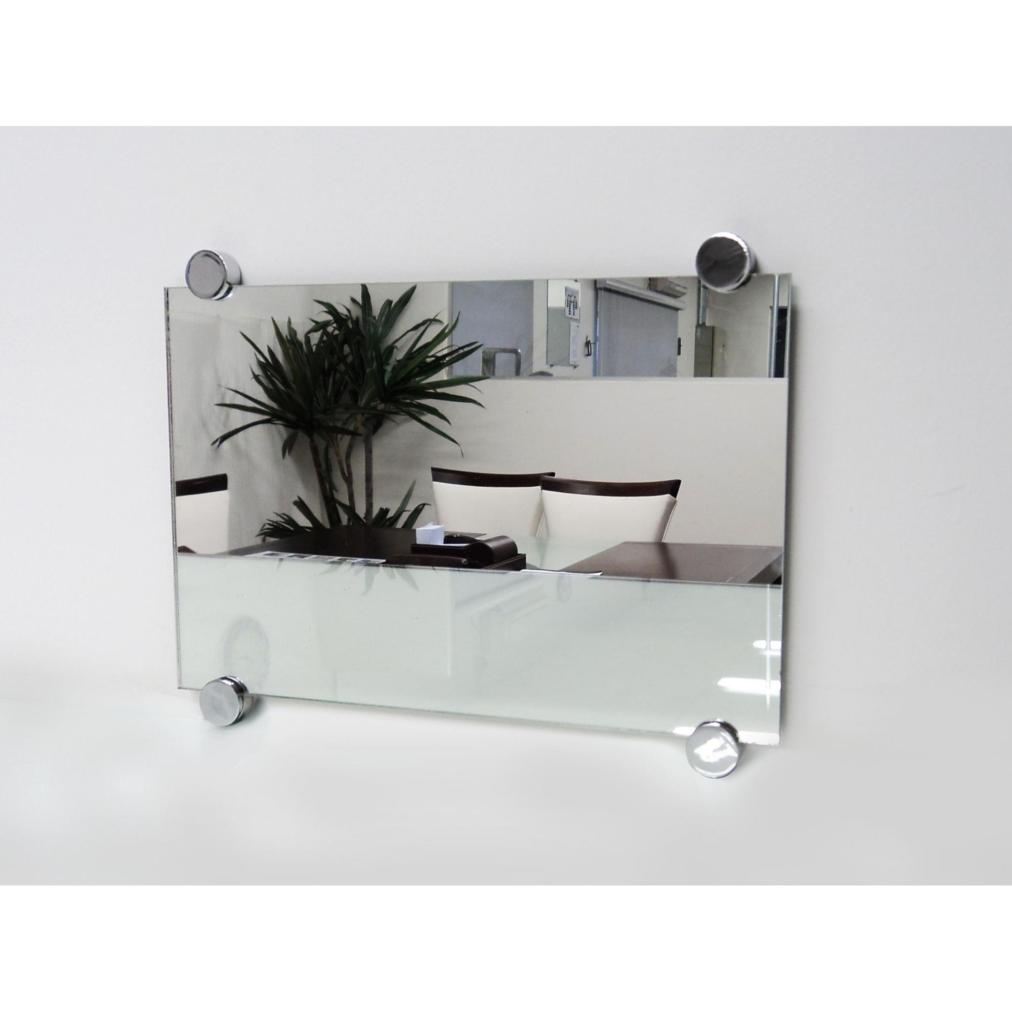 Espelho Lapidado Com Bisotê fixado com botões - 60x60cm