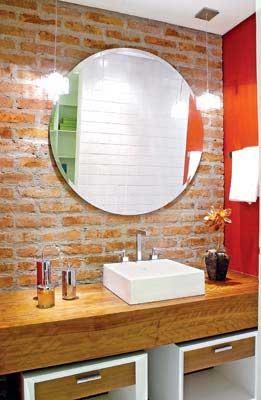 Espelho Redondo Lapidado 60cm com dupla face