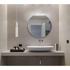 Espelho Redondo Lapidado fixado com botões - 40cm
