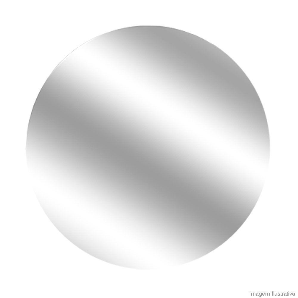 Espelho Redondo Lapidado Prata Cristal - 80cm