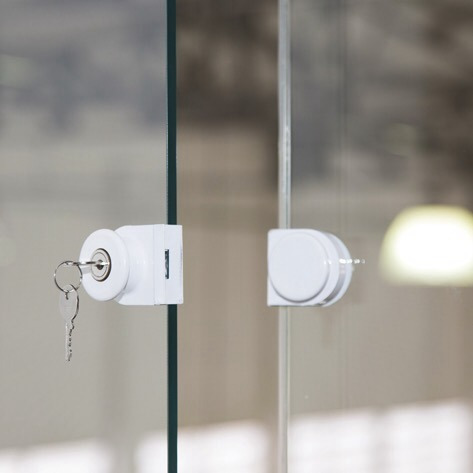 Fechadura De Pressão Para Fechamento Sacada Vidro/vidro 10mm