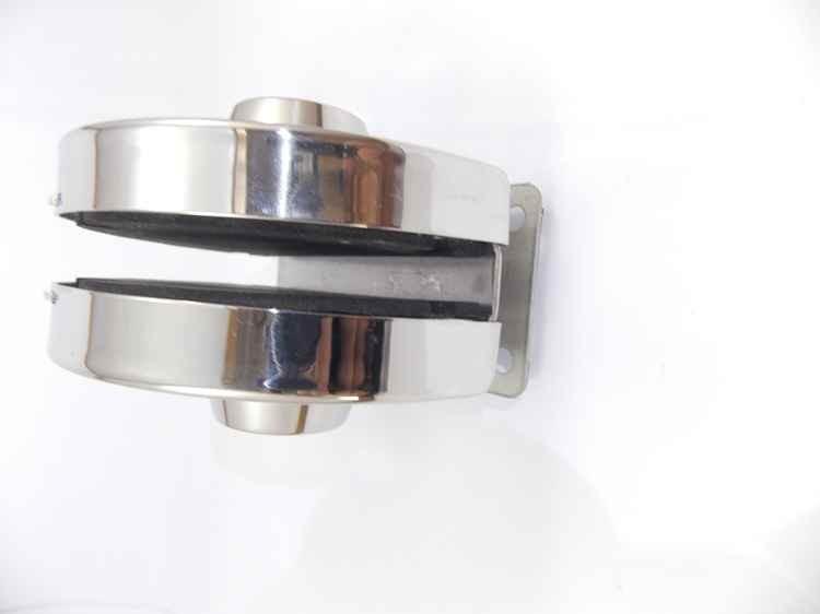 Fechadura redonda de pressão em inox para porta vidro blindex - vidro/alvenaria