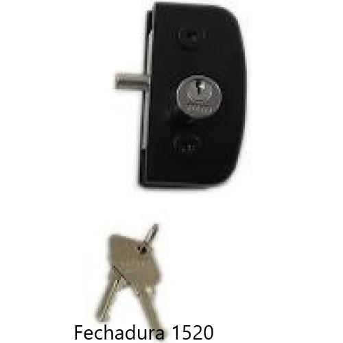 Fechadura Para Porta De Vidro De Abrir Pivotante 1520 preta