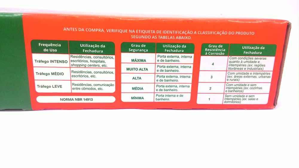 Fechadura Stam 823/21 roseta interna redonda cromada