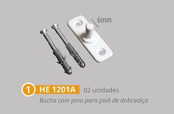Kit 2 polímero para instalação de janelas pivotantes branco