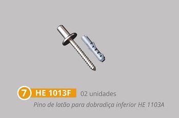 Kit 8 polímero para instalação de porta pivotante dupla branco