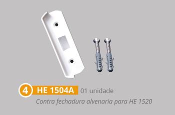 Kit 1 polímero para instalação de portas pivotantes de bater branco