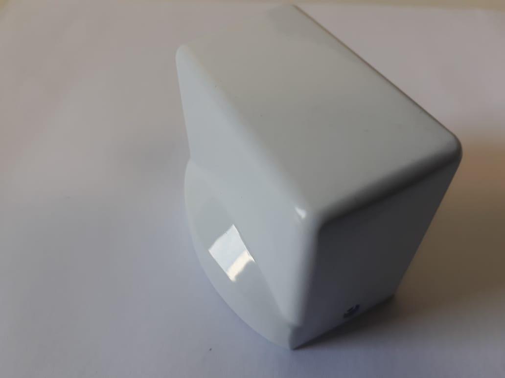 Batedor De Porta Magnético Amortecimento Fixador Branco