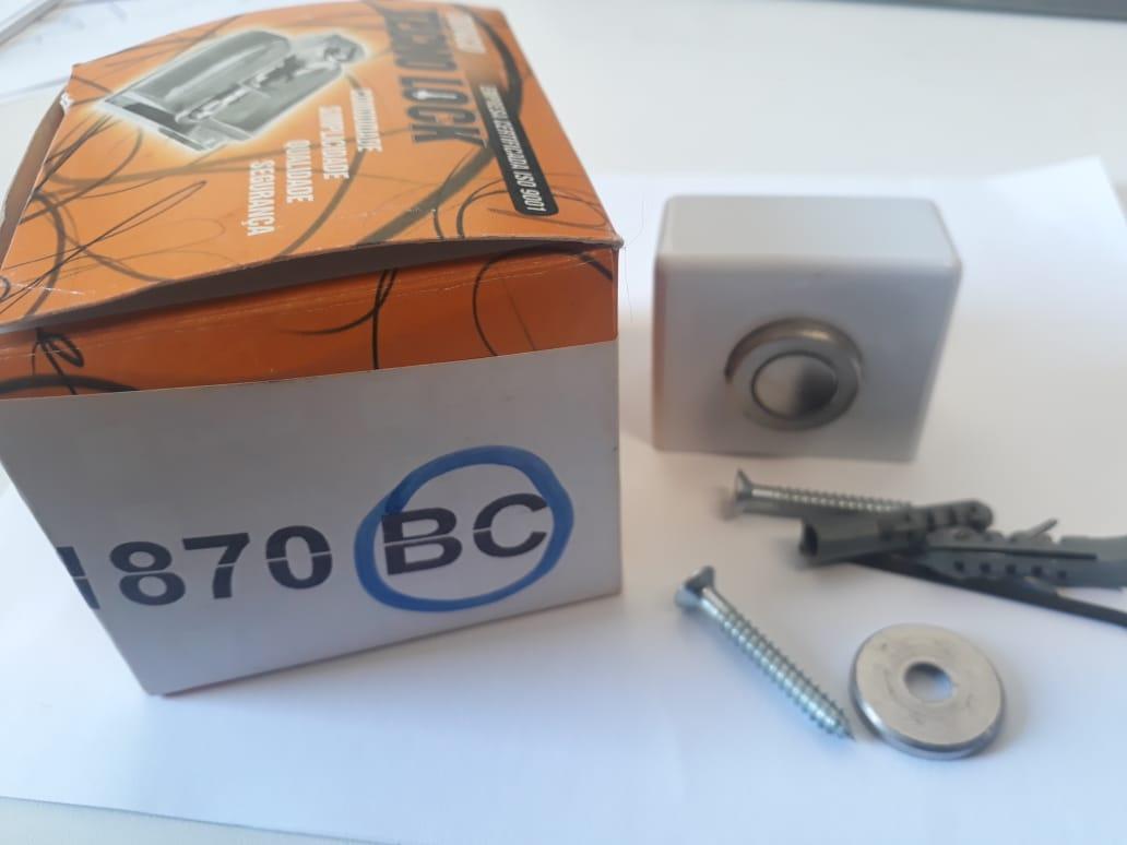 Fixador batedor prendedor de porta magnético Tecnolock branco