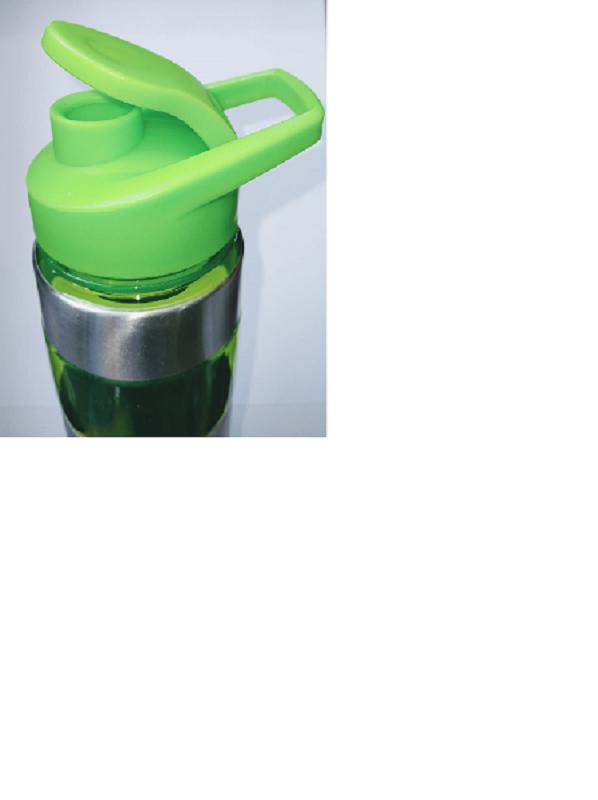 Garrafa squeeze inox fitness academia cromado verde