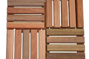 Jogo de deck modulado madeira - 4 peças 25 x 25