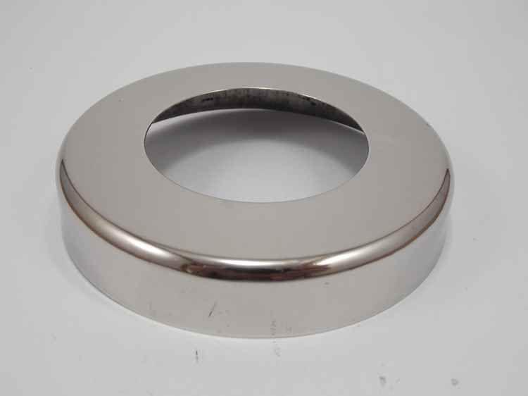 Canopla cromada redonda em aço inox polido 2 polegadas KIT 04
