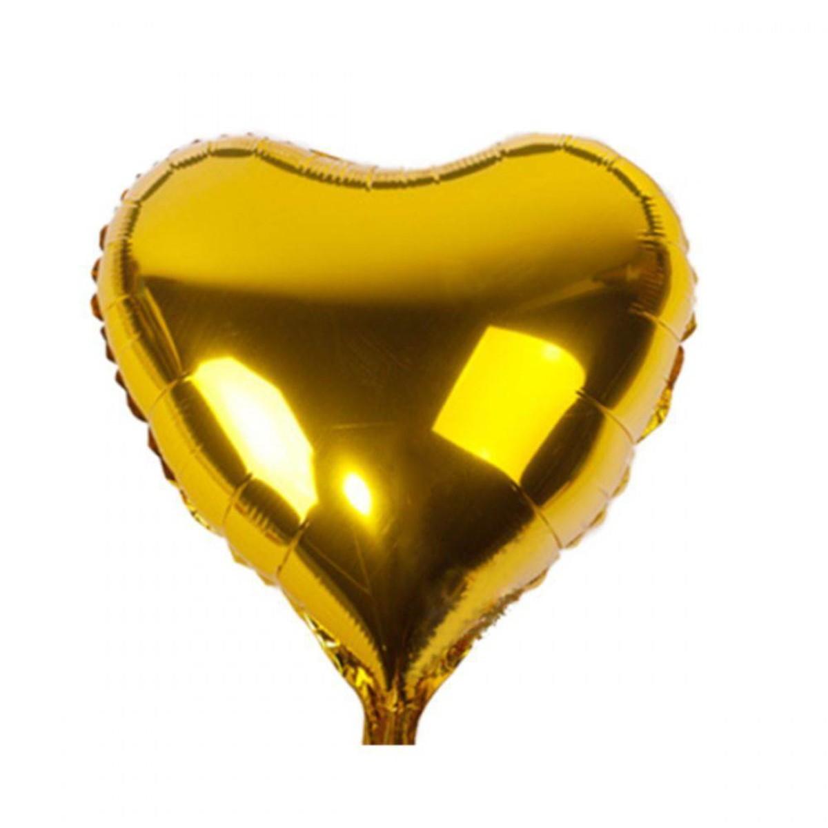 kit 10 Buque Balões Bexigas Metalizado dourado