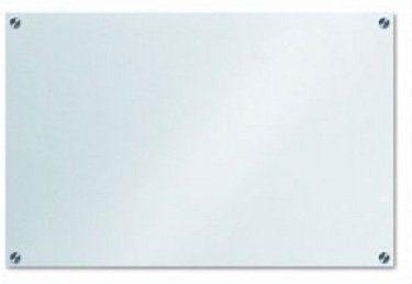 Lousa De Vidro Temperado branca 120x60cm 6mm
