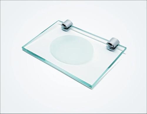 Prateleira Porta Shampoo Com Saboneteira De Vidro Incolor