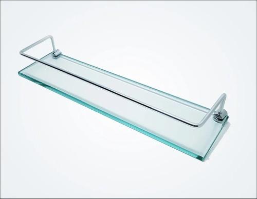 Prateleira Porta Shampoo Com Vidro incolor P/ Banheiro Ou Cozinha
