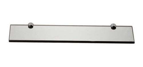 Prateleira 10x40cm De Vidro Fumê Com Botão Metal