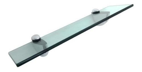 Prateleira De Vidro Incolor Com Suporte Tucano De Metal