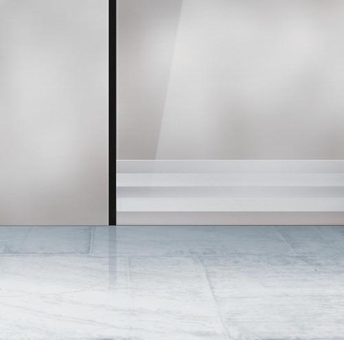 Protetor Veda Porta Slim Borracha 100cm Transparente