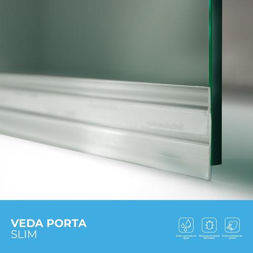 Protetor Veda Porta Slim Borracha 80cm Preto