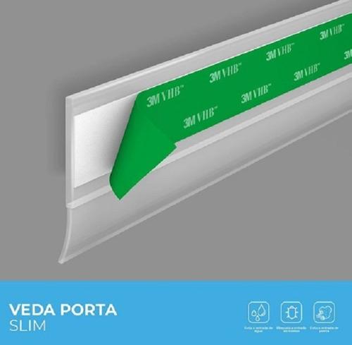 Protetor Veda Porta Slim Borracha 80cm Marrom Claro