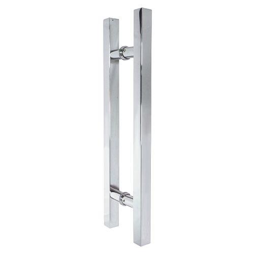 Puxador inox para porta madeira e vidro quadrado 30x45cm H05