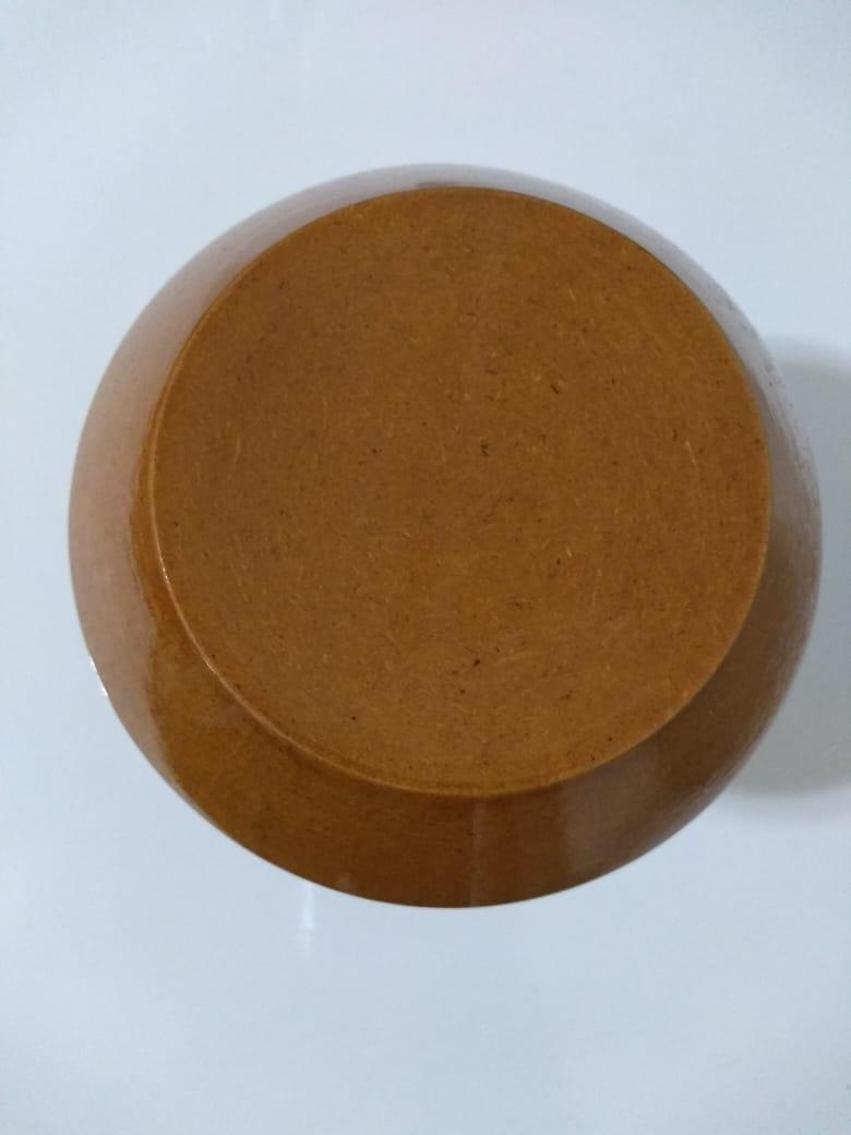 Puxador duplo redondo de madeira para porta de vidro bronze