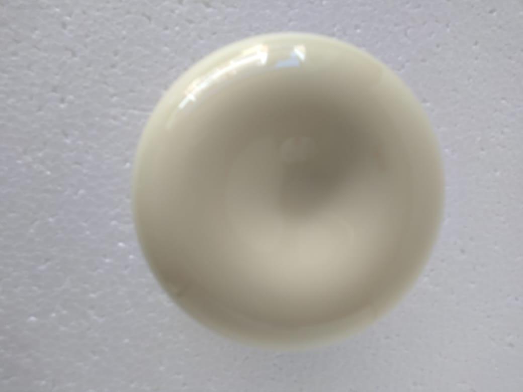Puxador duplo redondo de resina para porta de vidro marfim grande