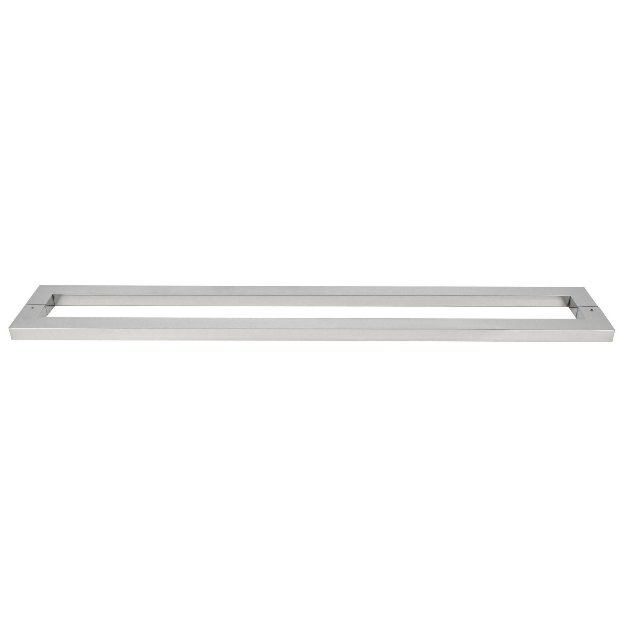 Puxador inox para porta madeira e vidro retangular barra chata 1m H12