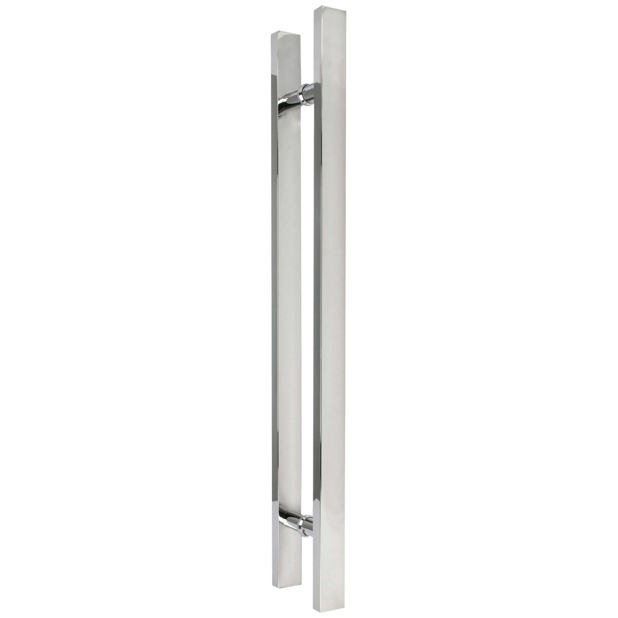 Puxador inox para porta madeira e vidro reto barra chata 40x60cm H06