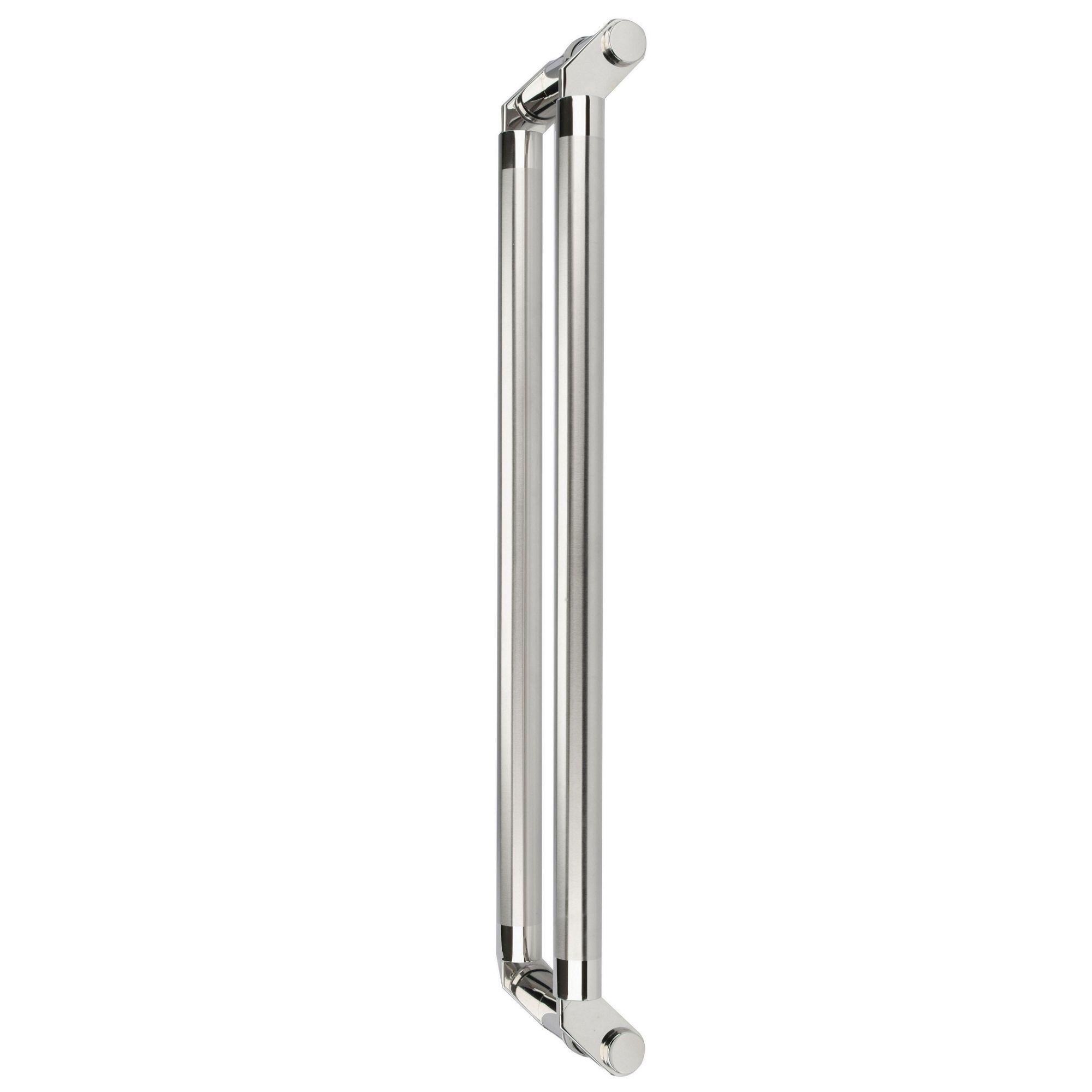 Puxador inox para porta madeira e vidro tubular modelado 1,20m H01