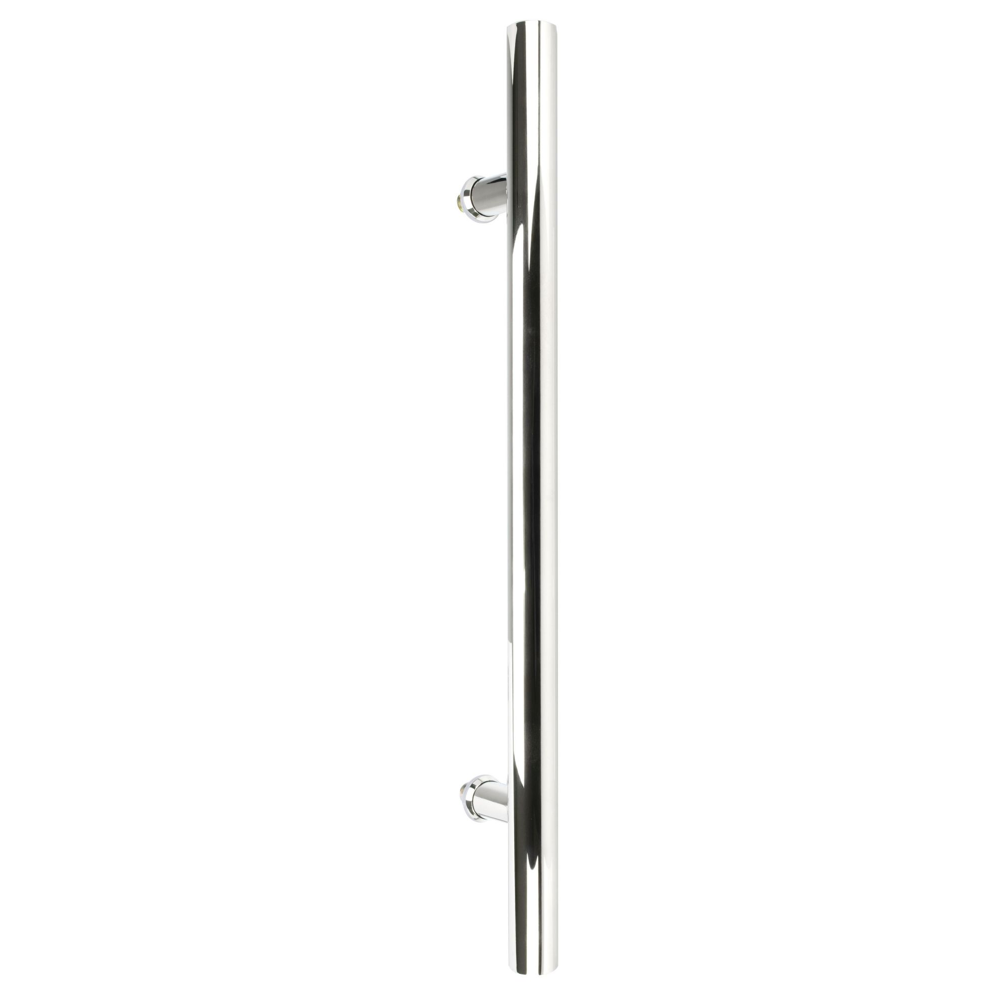 Puxador inox para porta madeira e vidro tubular redondo 900x1,20m H05