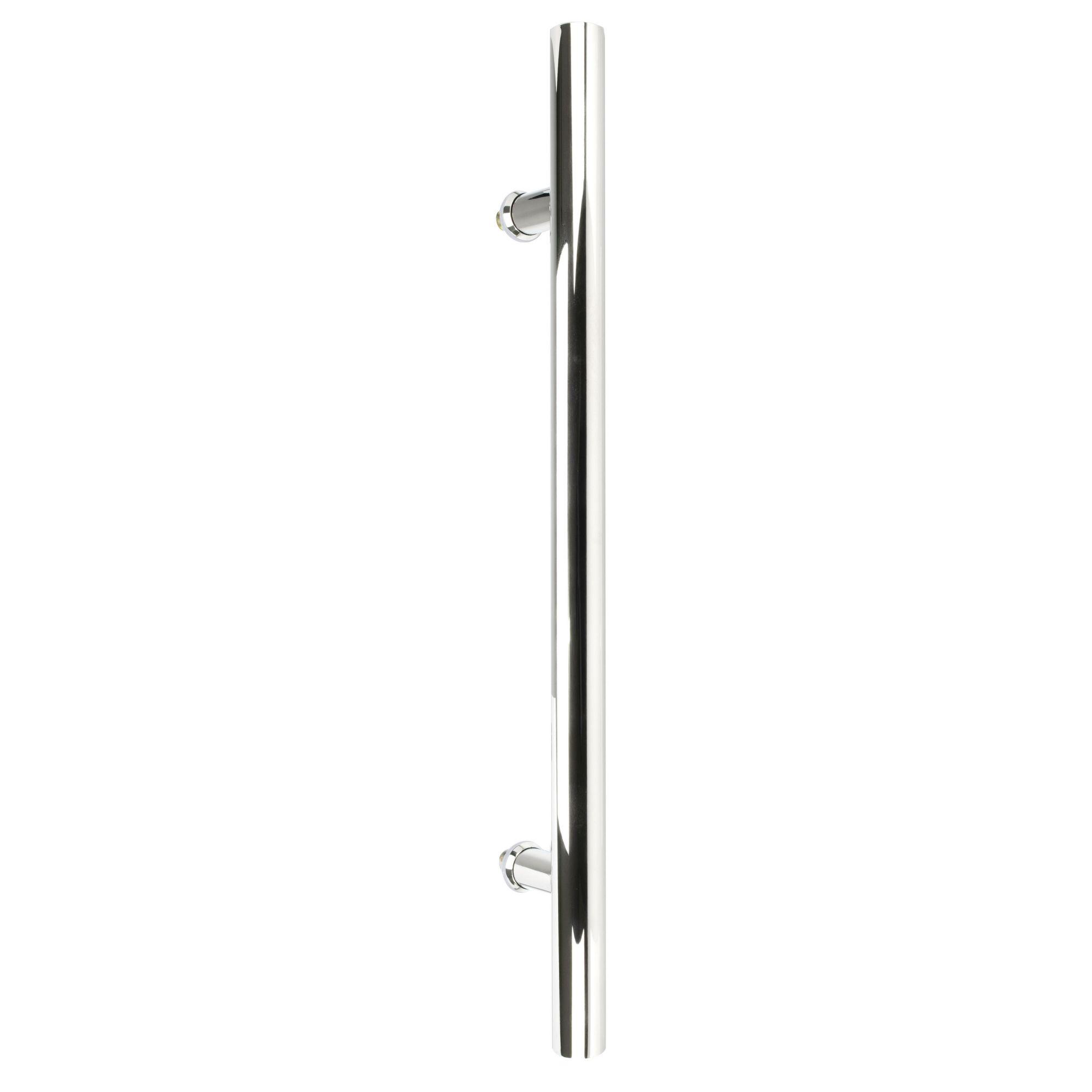 Puxador inox para porta madeira e vidro tubular redondo 30x45cm H05