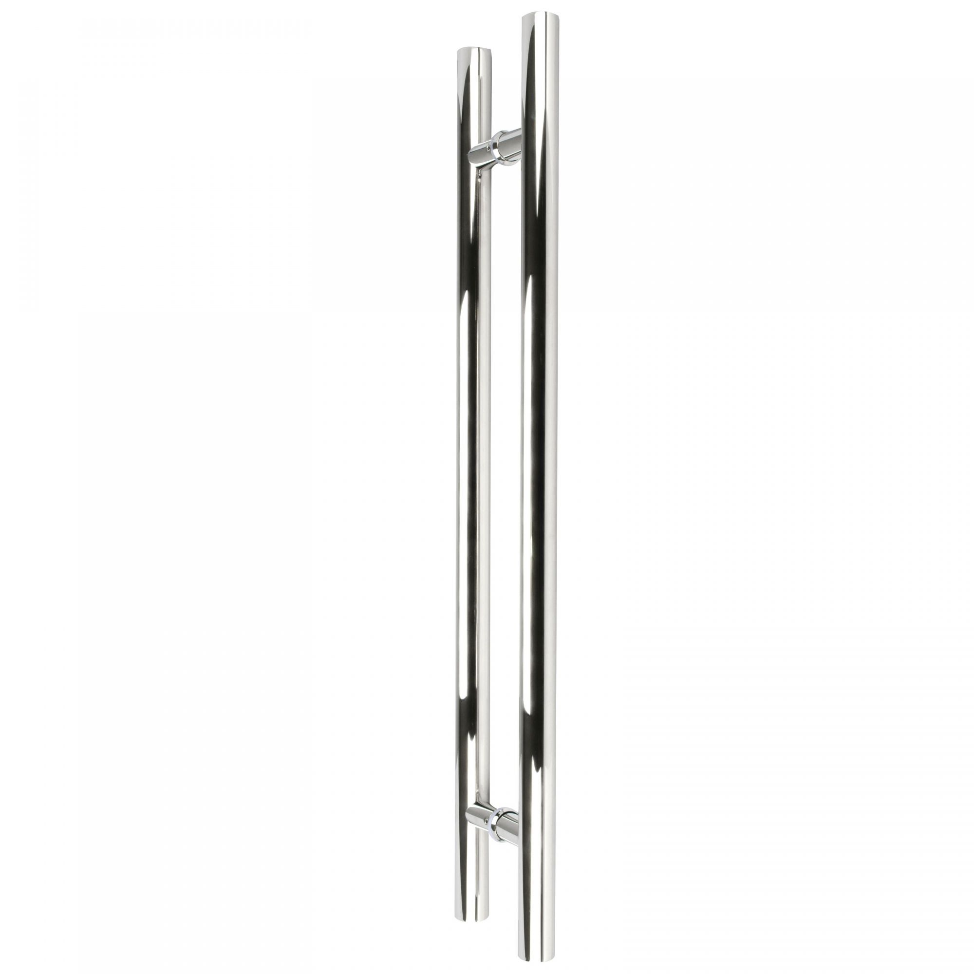 Puxador inox para porta madeira e vidro tubular redondo 80x100cm H05