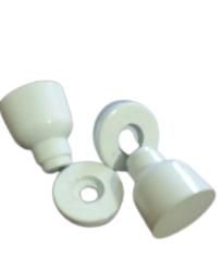 Puxador para box de banheiro ou janela de vidro temperado branco