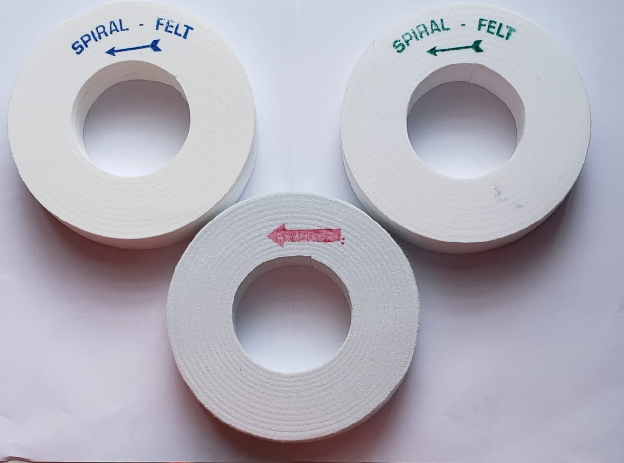 Rebolo de polimento de vidros para biseladoras espiral vermelha