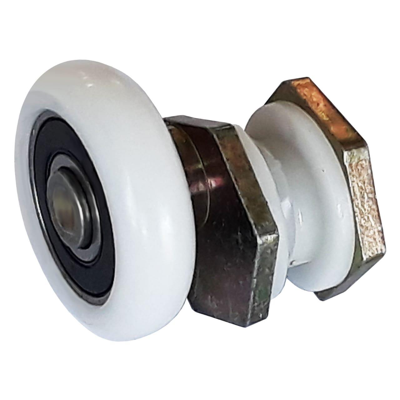Roldana excêntrica de latão para vidros temperados e box de banheiro - 2 unidades
