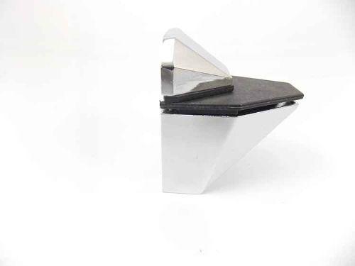 Suporte bico de diamante cromado - 2 unidades