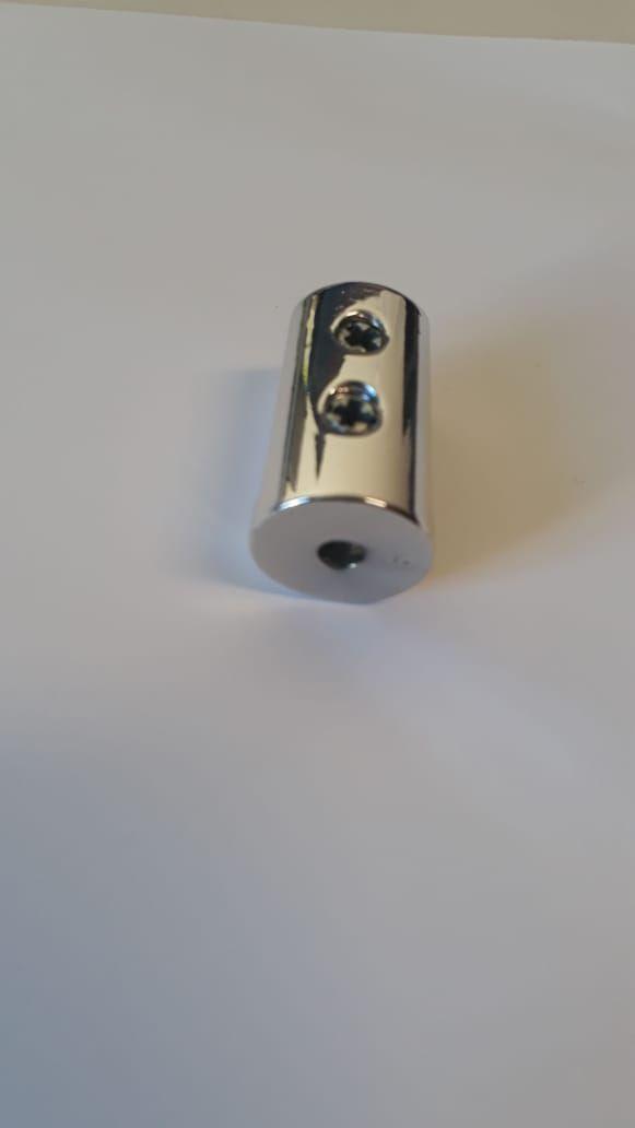 Suporte fenda 2 parafusos para prateleira vidro 8mm - 50 unidades