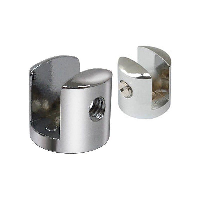 Suporte fenda para prateleira vidro 15mm - 10 unidades
