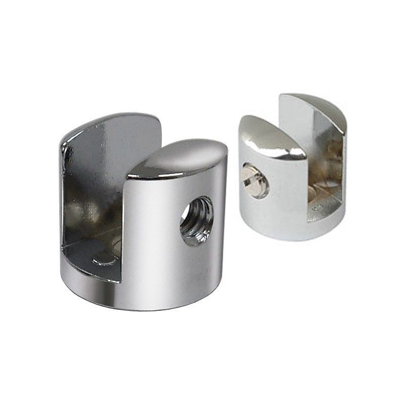 Suporte fenda para prateleira vidro 19mm - 100 unidades