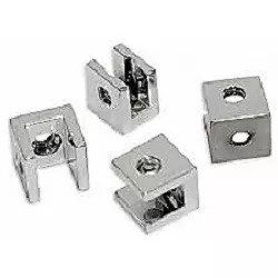 Suporte fenda quadrado para prateleira vidro 6mm - 10 unidades
