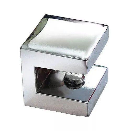 Suporte fenda quadrado para prateleira vidro 6mm - 50 unidades