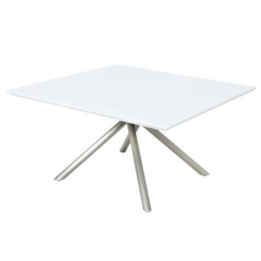 Tampo de vidro temperado branco para mesa 120x120cm 8mm