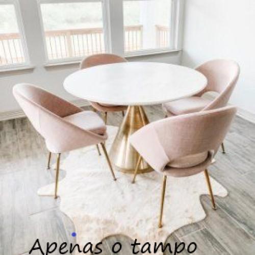 Tampo mesa redondo vidro branco temperado 80cm 8mm