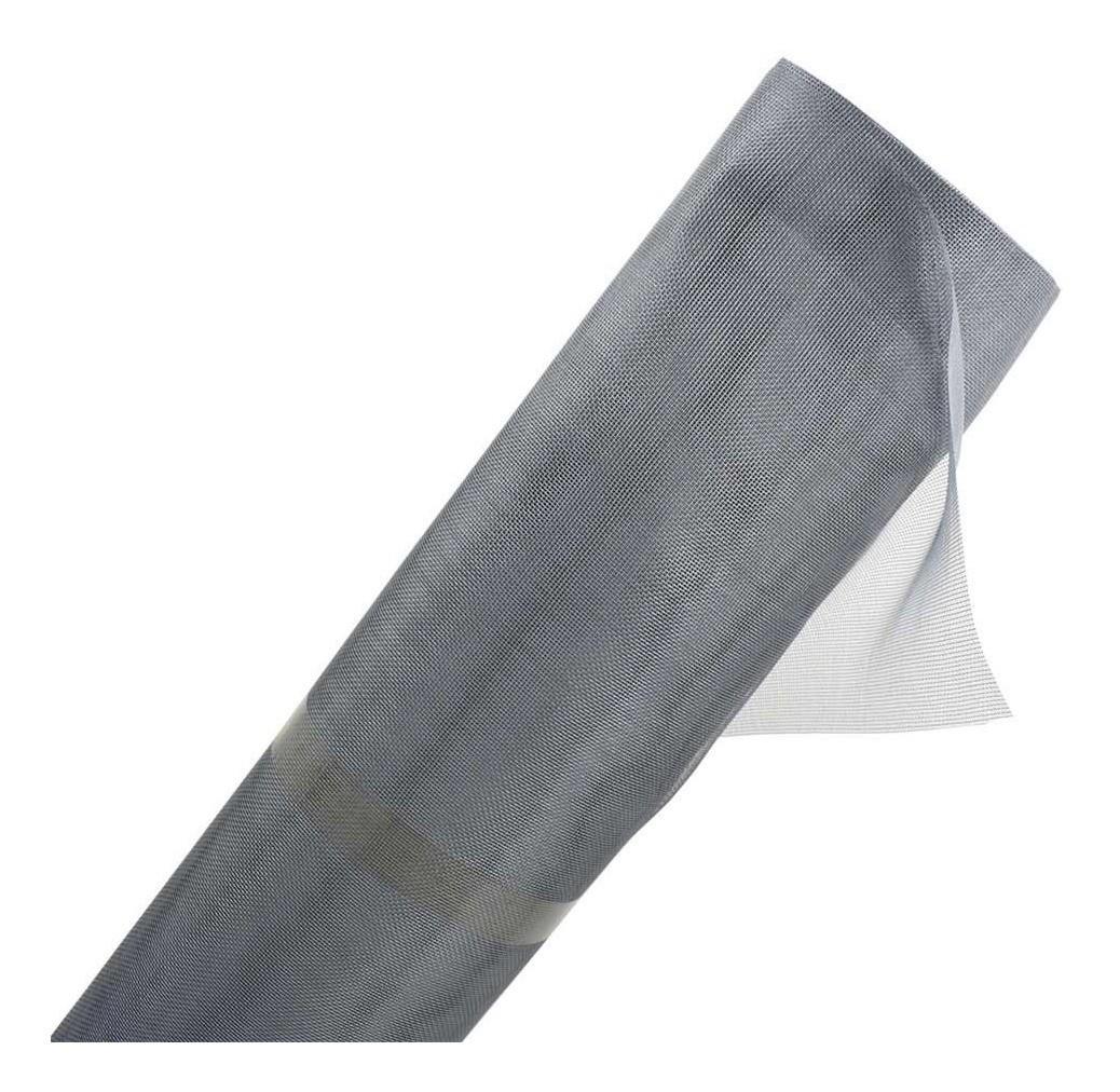 Tela mosquiteira anti-inseto para janelas nylon cinza 120x5 metros